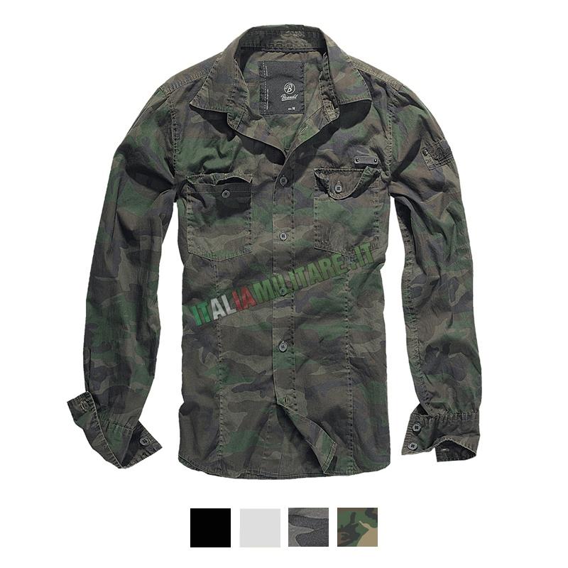 brandit camicia uomo  Camicia Brandit Slimfit Shirt :: Polo e Camicie :: Abbigliamento ::...
