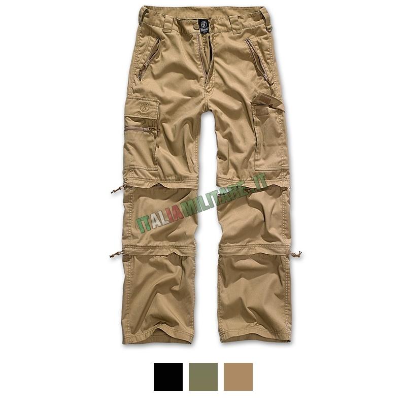 brandit savannah pantaloni verde oliva  Pantaloni Brandit Savannah 3 in 1 Lunghi Corti e 3/4 :: Pantaloni...