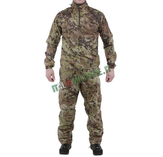 f835d60974144c Completo Antipioggia Vegetato Tascabile Giacca e Pantalone