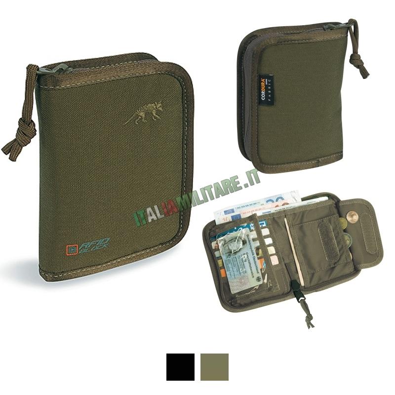 taglia 40 92309 5e06b Portafoglio Militare RFID Tasmanian Tiger con Protezione