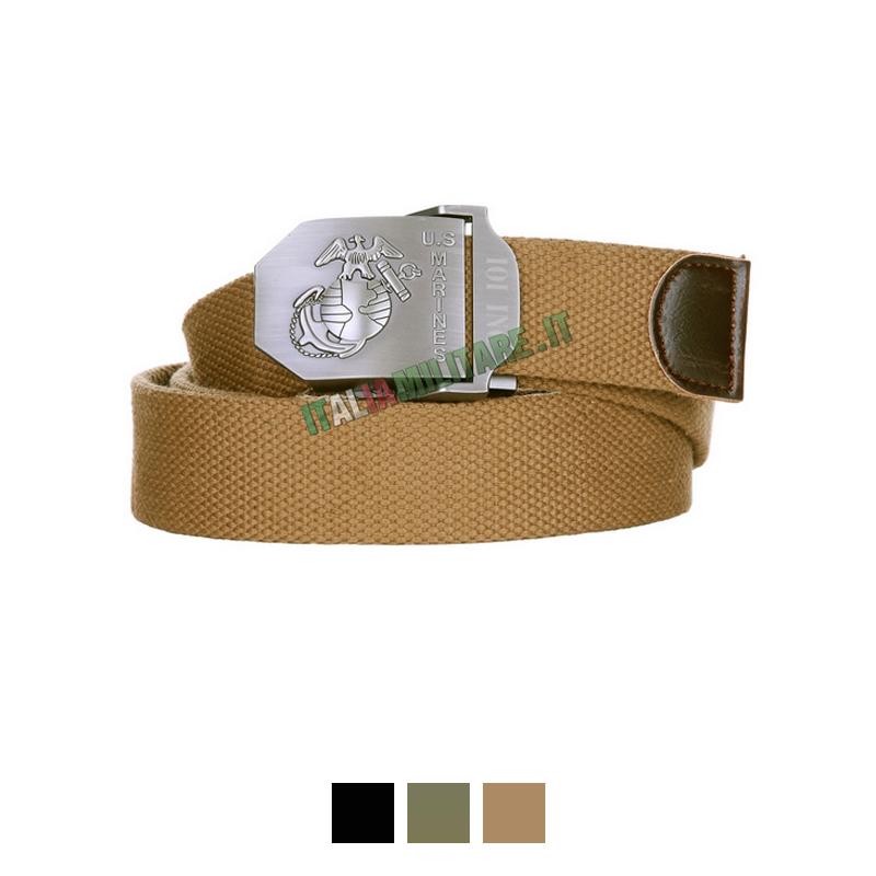 Cintura 101 Inc US Marines    Cinture con Loghi    Cinture 9a210ed2867d