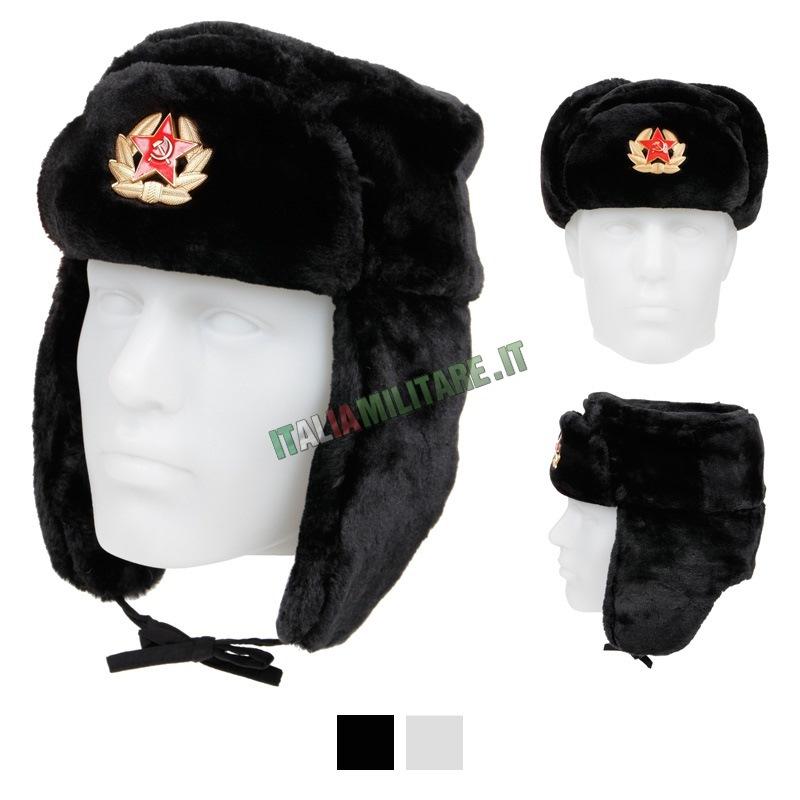 Colbacco Militare Russo Falce e Martello Nero    Cappelli Militari... df3f6f1717b3