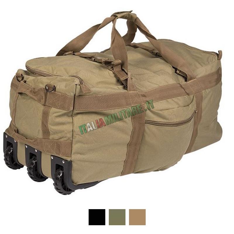 8f48d87817 Trolley Zaino Militare da Trasporto 100 Litri Nero Miltec