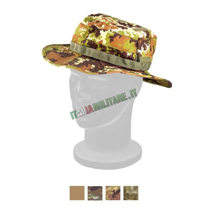Cappello Militare Jungle Defcon 5 Vegetato in Coolmax    Cappelli... 2b74bae0e342