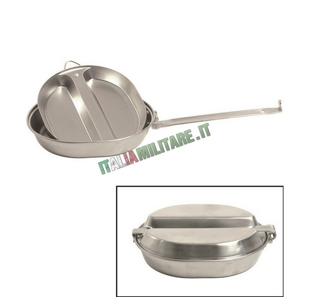 Gavetta per cucinare richiudibile modello militare americano for Cucinare per 50