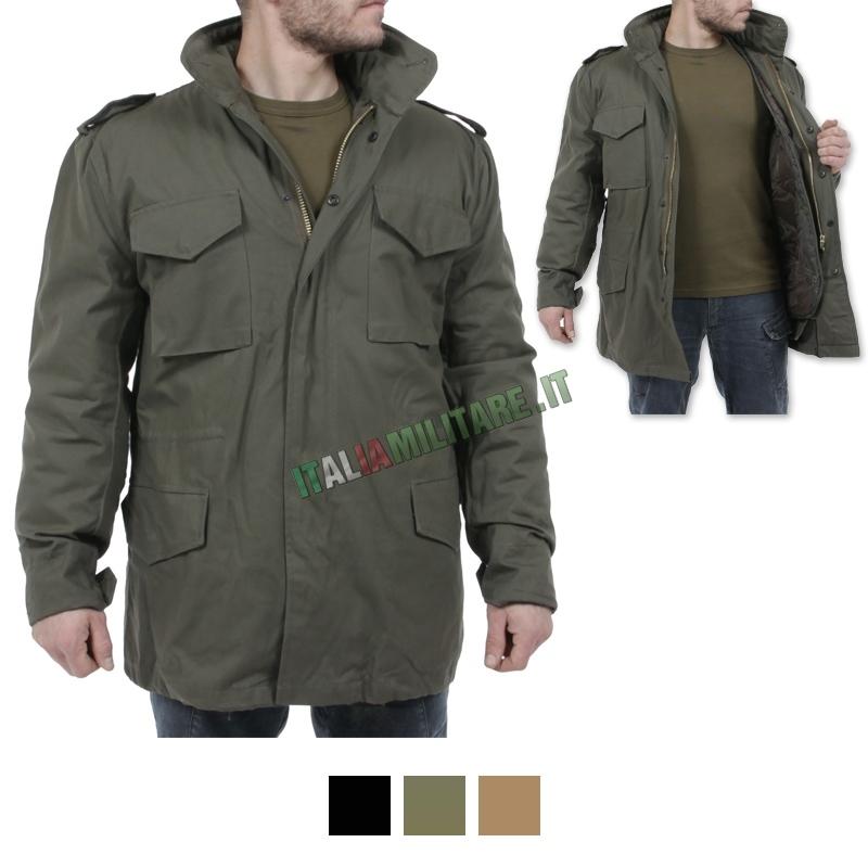 11e137a4d3 Parka Giacca M-65 Field Jacket Nera
