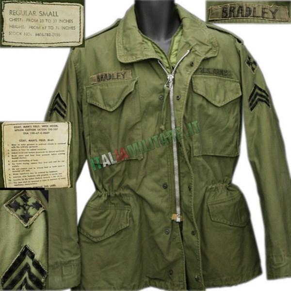 Giacca Militare Americana M65 Field Jacket ORIGINALE Verde   ... 07b797098a13