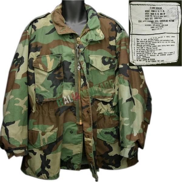 metà fuori 6ee49 cbe23 Giacca Militare Americana M65 Field Jacket ORIGINALE ...