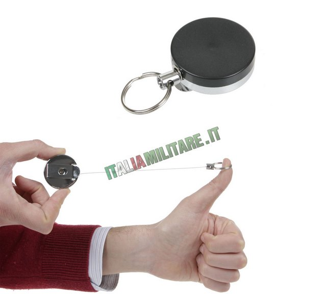 dbfcc02542 Portachiavi Retrattile con Clip da Cintura :: Moschettoni, Fibbie e...