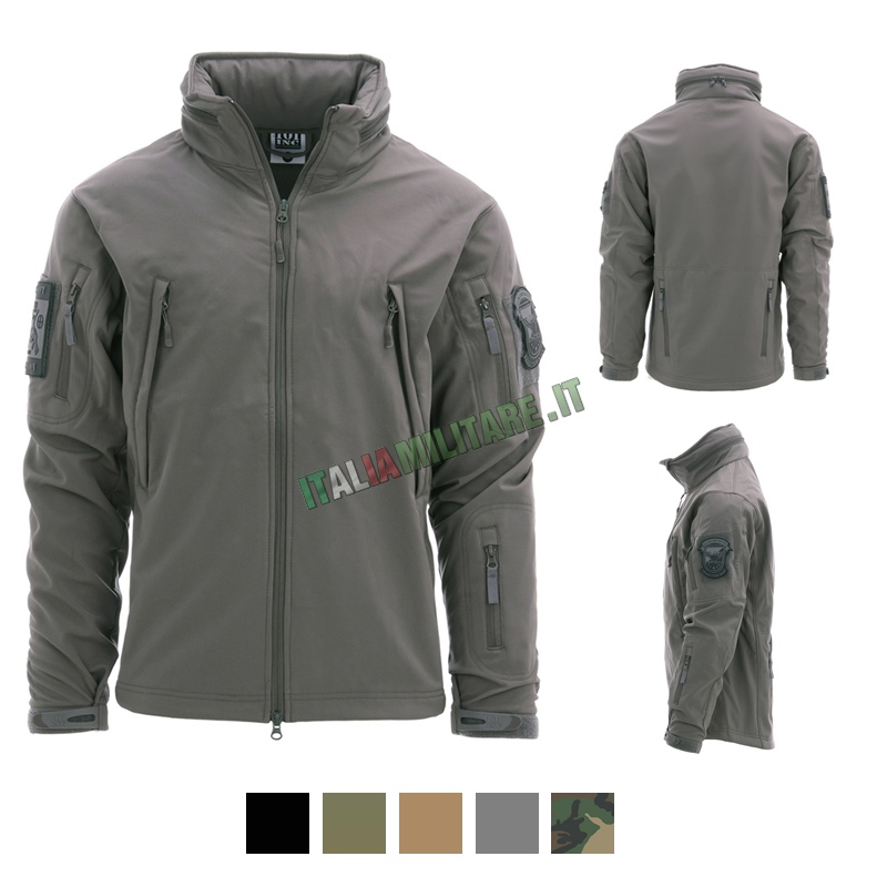 4a1f4deee6ab Giacca Softshell Tattica Invernale 101 Inc Nera :: Giacche...
