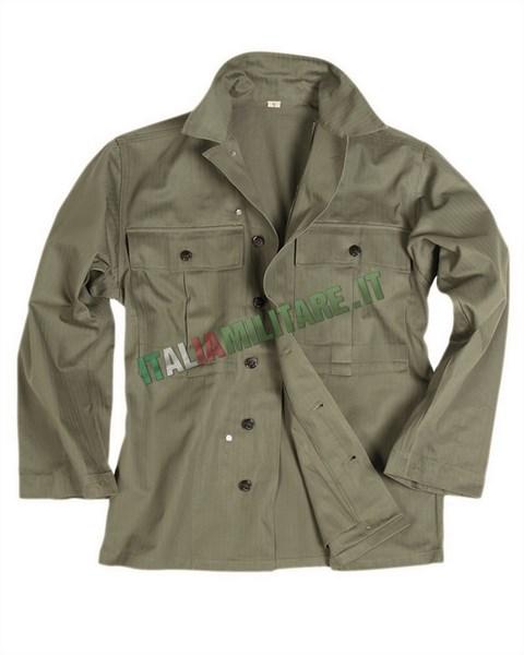 Camicia Militare Americana WWII mod HBT    Reenacting WWII... 11d08289fa9