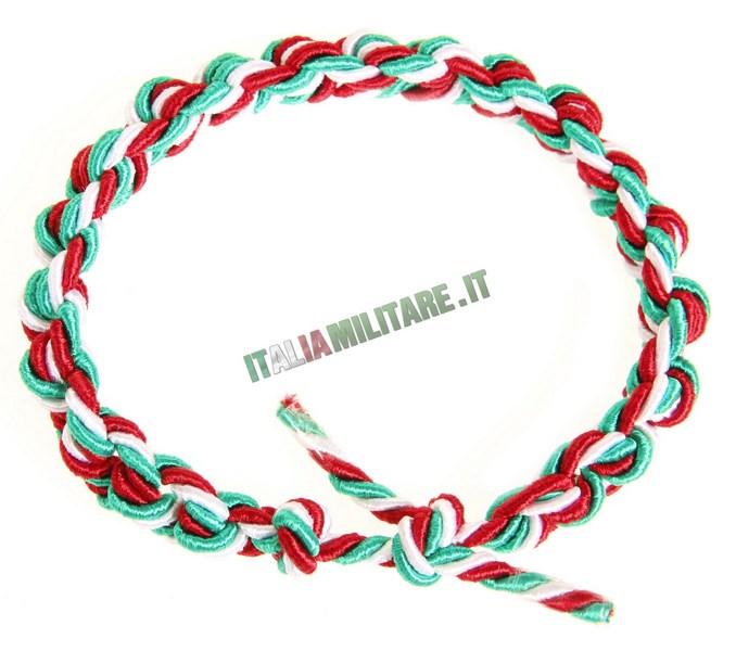braccialetto italia tricolore portachiavi e