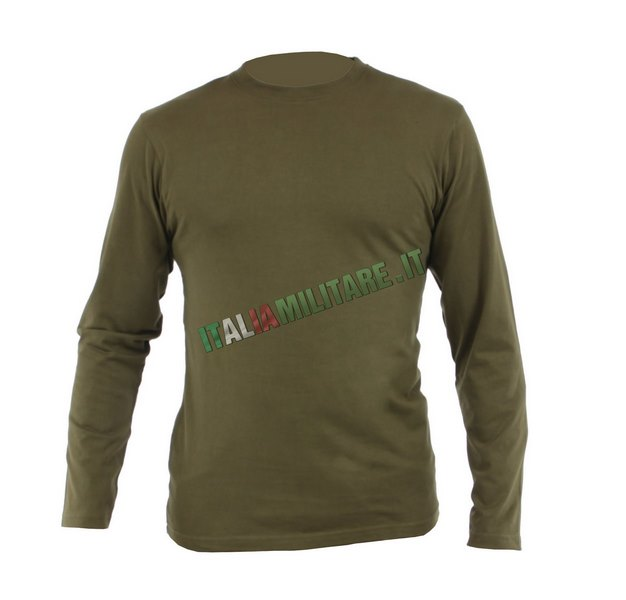A Lunga Shirt Militare Verde T Manica IfYb7gyvm6