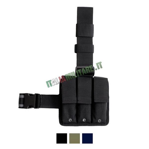 Vega Holster Kit Cosciale 2K94 Triplo Porta Caricatori Pistola Vari Colori