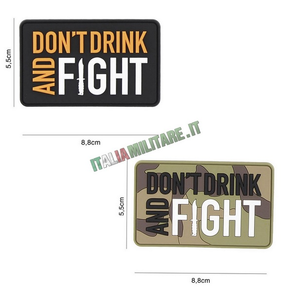 Patch Don't Drink and Fight in Pvc
