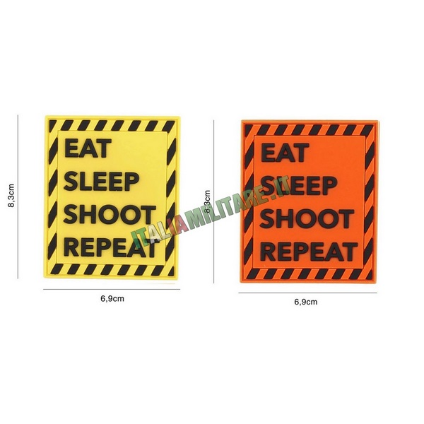 Patch Eat, Sleep, Shoot, Repeat in Pvc