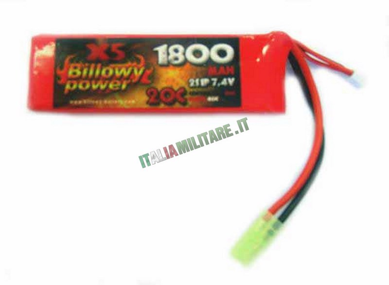 Batteria Lipo BILLOWY POWER 7.4X1800 20C