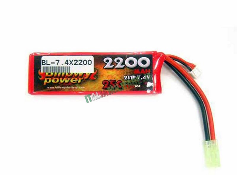 Batteria Lipo BILLOWY POWER 7.4X2200 25C
