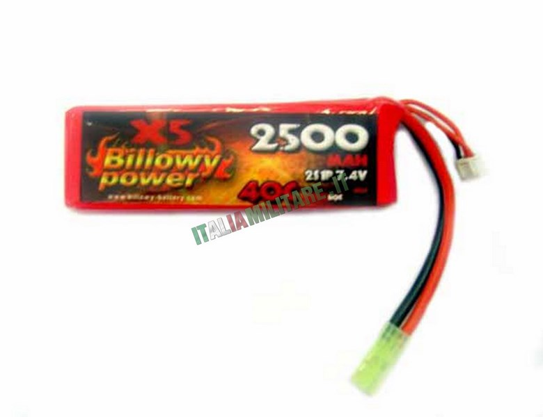Batteria Lipo BILLOWY POWER 7.4X2500 40C