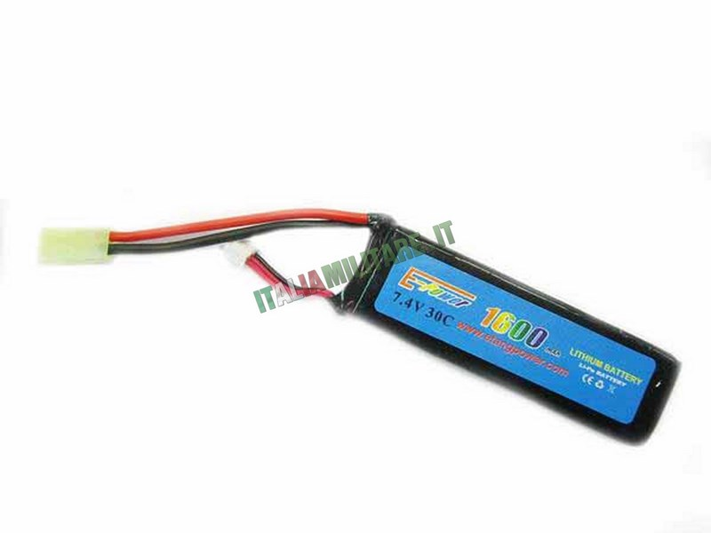 Batteria Lipo E-TANG POWER 7.4X1600 30C