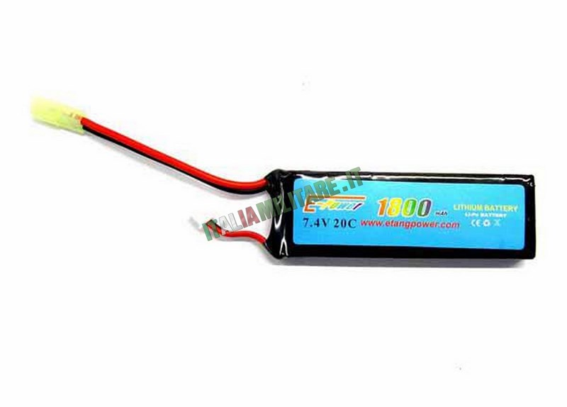 Batteria Lipo E-TANG POWER 7.4X1800 20C