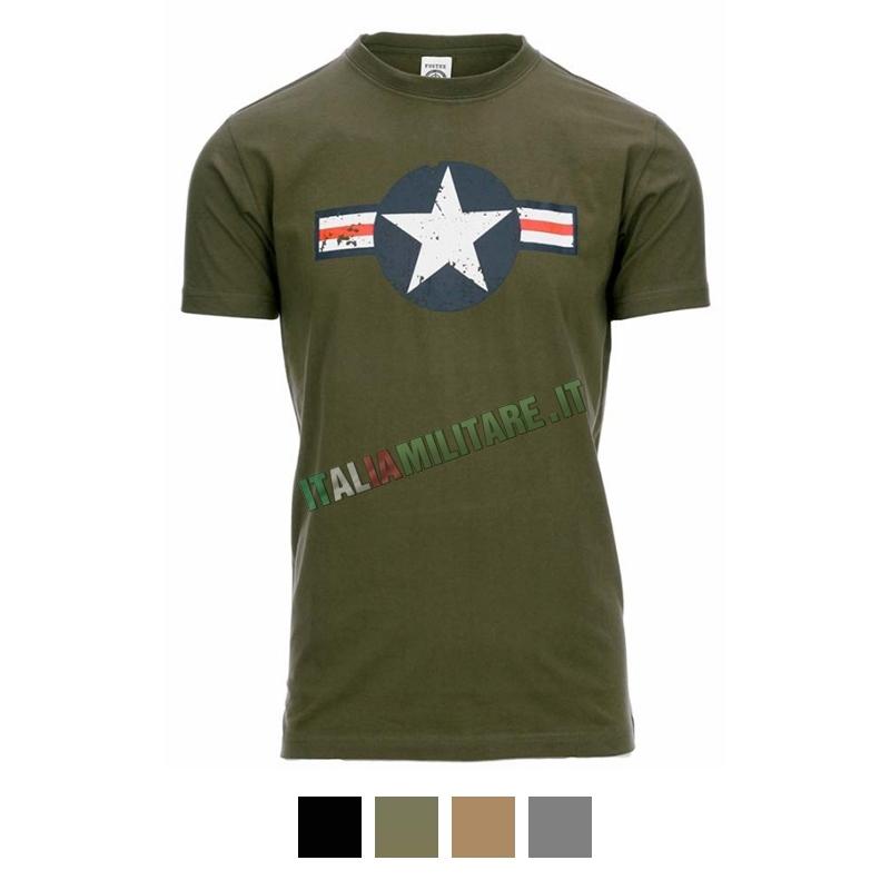T-Shirt USAF - Aeronautica Americana WWII