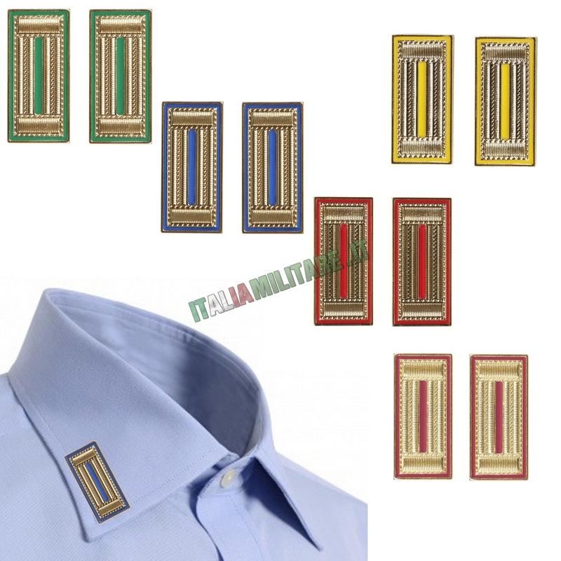 Alamari in Metallo Oro Guardie Giurate da Camicia