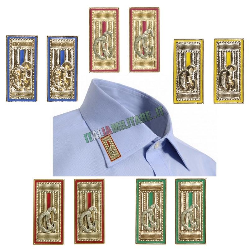 Alamari in Metallo Oro Guardie Giurate GG da Camicia