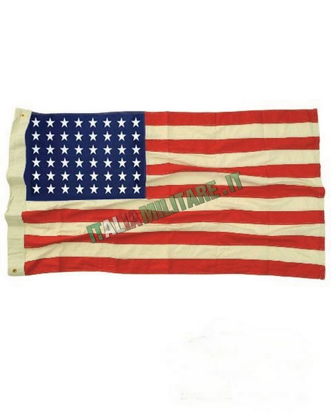 Bandiera Americana 48 Stelle Ricamata 100% Cotone