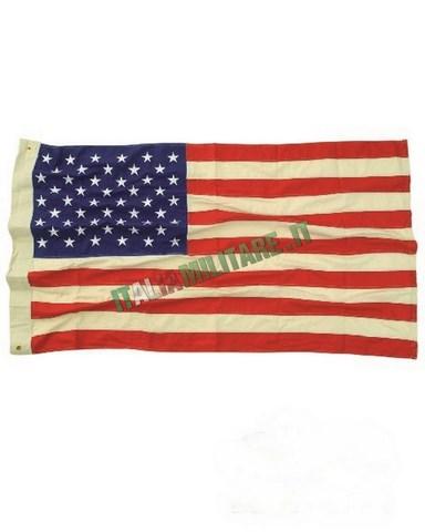 Bandiera Americana 50 Stelle Ricamata 100% Cotone