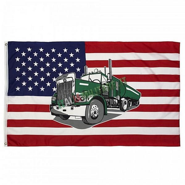 Bandiera Americana con Camion