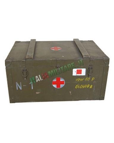 Baule Militare Medico in Legno