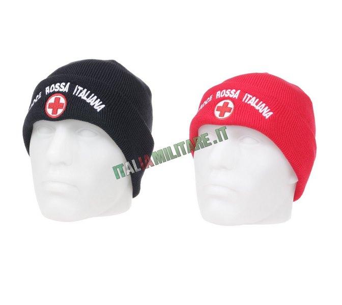 Berretto Lana con Ricamo Croce Rossa Italiana
