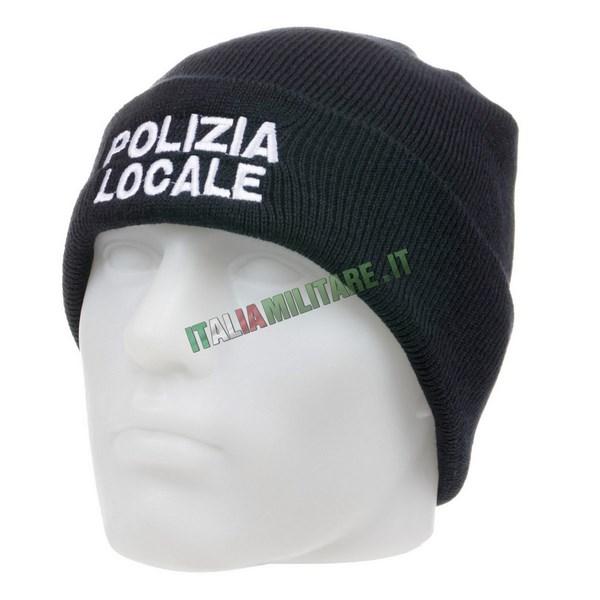 Berretto Lana con Ricamo Polizia Locale