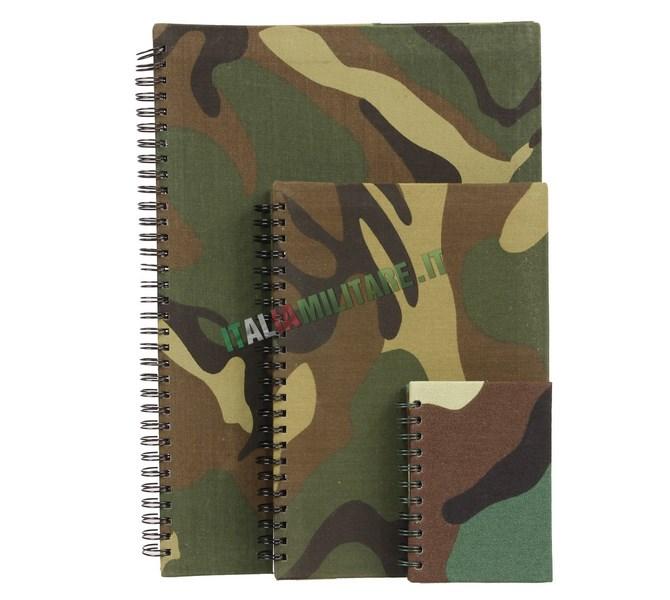 Block Notes Militare per Appunti A4, A5, A6 o A7