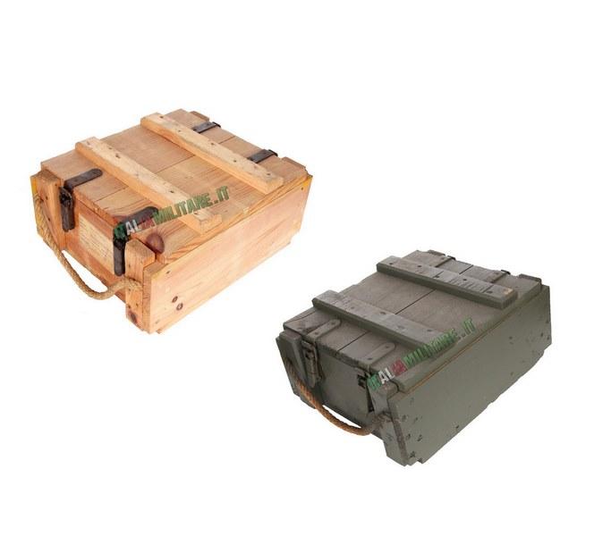 Box Munizioni e Armi Militare in Legno