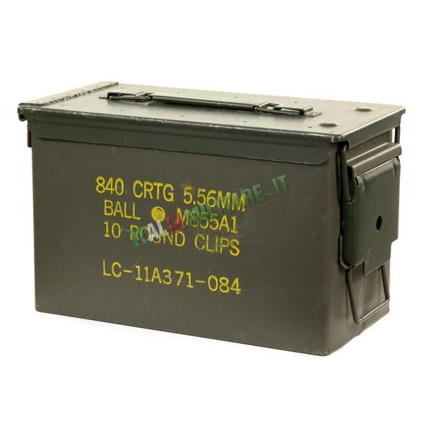 Scatola Box Munizioni Militare Tipo 2 Nato