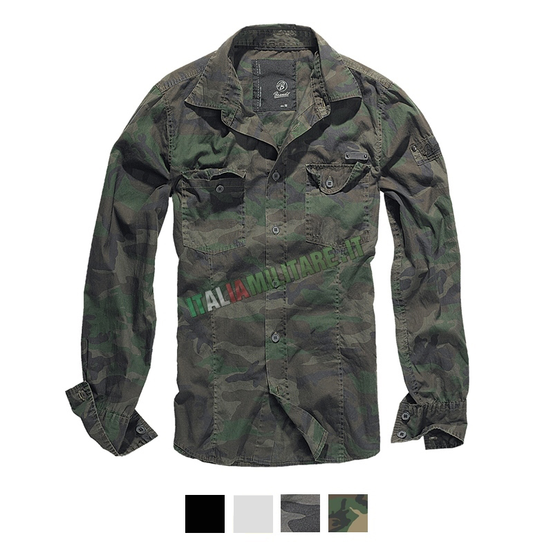 Camicia Brandit Slimfit Shirt 4005