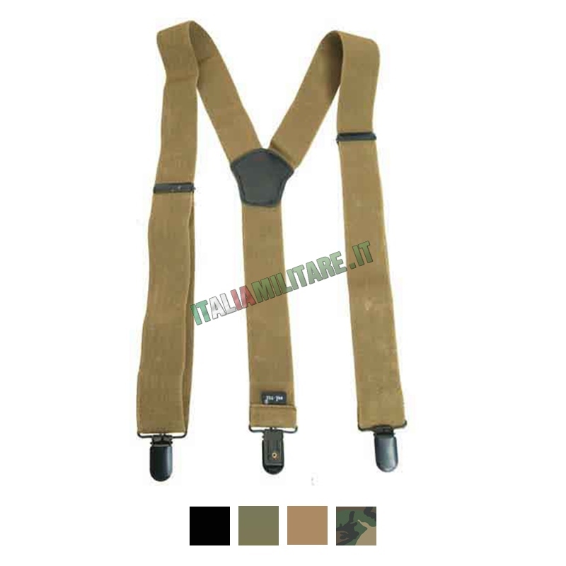Bretelle Elastiche per Pantaloni MilTec
