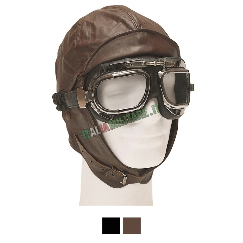 Cappello Aviatore in Vera Pelle
