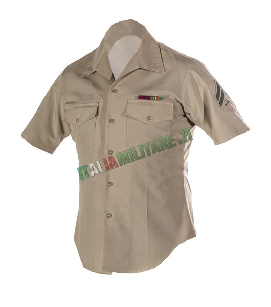 Camicia da Uniforme Militare Maniche Corte USMC Marines Originale