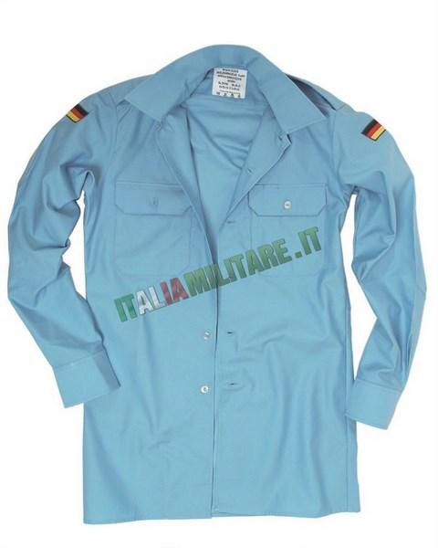Camicia Bundeswehr Militare Tedesca Azzurra