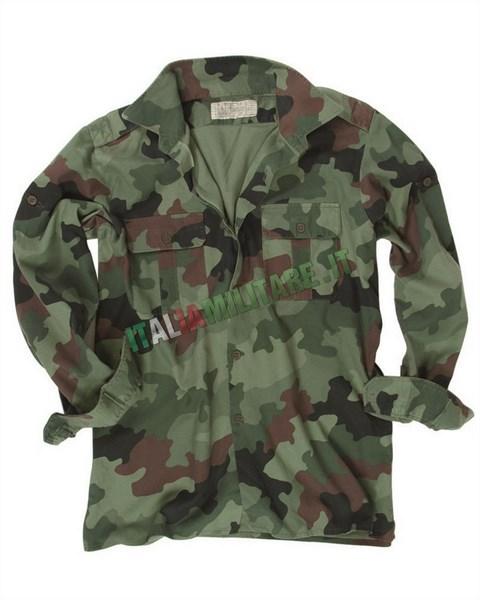 Camicia Militare Esercito Serbo Mimetica