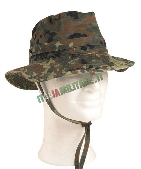 Cappello Militare Flecktarn Tedesco Originale Jungle