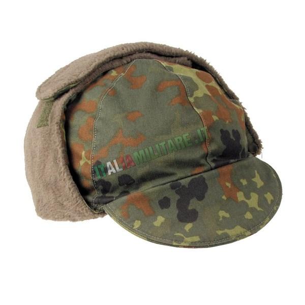 Cappello Invernale Militare Flecktarn Tedesco Originale