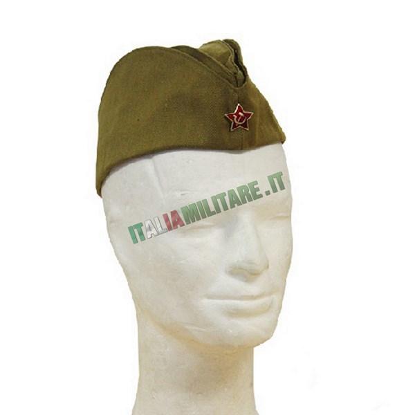 Cappello Russo da Pilota Militare Originale