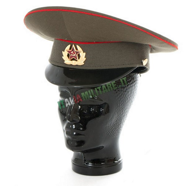 Cappello Russo da Soldato Militare Originale