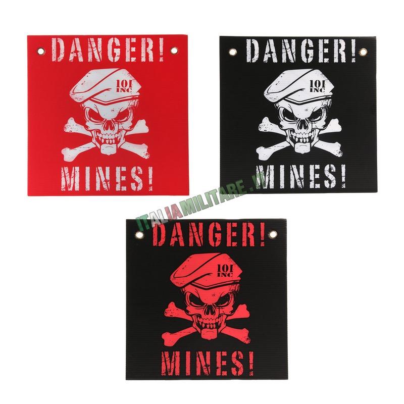 Cartello Danger Mines - Pericolo Mine