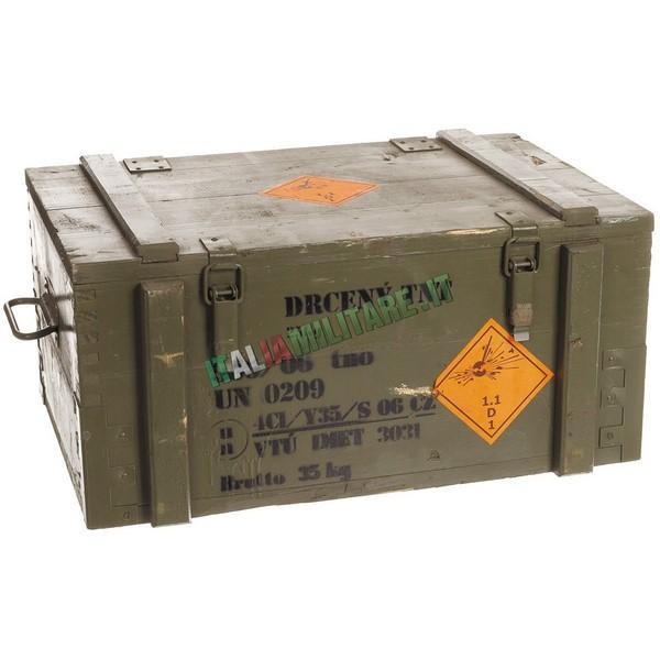 Baule in Legno Militare Originale Porta Esplosivo