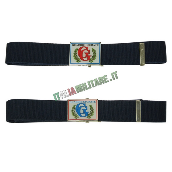 Cintura in Corda con Fibbia in Metallo Guardie Giurate